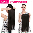 Buy 24 inch 140g 1Pc Clip Long Straight Hair Extensions Synthetic Heat Resistant Fiber Multicolor Pieces