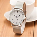 New Silver Casual Geneva Quartz Watch Women Metal Mesh Stainless Steel Dress Watches Relogio Feminino Clock Cool Watches Unique Watches