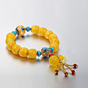 Buy European beeswax burn color change bead bracelets Silver Series 2 Strand Bracelets Wedding / Party Daily Casual 1pc