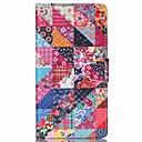 firkantet blomst mønster pu læder telefon etui til Sony m4