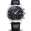 Buy SINOBI®Chronograph 6 hands Auto Date Leather Strap Watches Men Luxury Brand Fashion Casual Quartz Watch Male Cool Unique