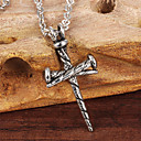 ailaicity®Stainless Steel Nail Cross Man Necklace