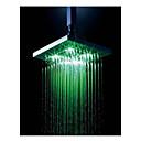 8-Zoll-Chrom-bunten LED-Duschkopf regen Dusche