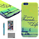 Buy LEXY® Green Coast Pattern Hard PC Back Case 9H Glass Screen Protector Stylus iPhone 6/6S Plus