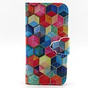 Buy Hexagon Pattern PU Leather Full Body Case Card Slot Stand iPhone 5C