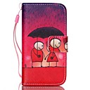 Buy Lovers Pattern PU Leather Material Flip Card Phone Case iPhone 4/4S