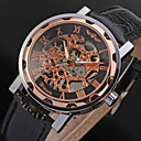 Men's Automatic Mechanical Hollow Case PU Band Analog Wrist Watch (Assorted Colors)