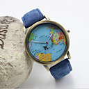 Buy Women's Fashion Personality Map Leather Quartz Belt Watch(Assorted Colors) Cool Watches Unique