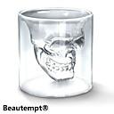 멋진 투명 창조적 무서운 두개골 헤드 디자인 참신 드링크웨어 와인 샷 유리 컵 75ml