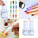 Buy Nail Art Set(5PCS) /Optional Color Metal Uv Gel Polish+Base & Top Coat+UV Flashligh+Nail Polish Remover Pen