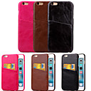 Buy iPhone 6 Case / Plus Card Holder Back Cover Solid Color Hard PU Leather 6s Plus/6 6s/6
