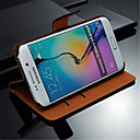 GYM Genuine Leather with Card Bag Full Body Case for Samsung Galaxy S6 Edge G9250(Assorted Colors)