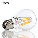 5 pezzi MORSEN E26/E27 8W 8 COB 800 LM Bianco caldo / Luce fredda A60(A19) edison Vintage Lampadine LED a incandescenza AC 85-265 V