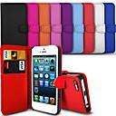 elegante pu lederen case voor de iPhone 5 / 5s (diverse kleuren)