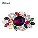 Buy D Exceed Multicolor Crystal Rhinestone Silver Plated Chinese Redbud Flower Brooch Pin Jewelry Women Brooches Scarf
