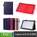 Lichee Style Folio Book PU Leather Smart Cover With Stand Case For Lenovo A10-70/A7600 Table (Assorted Colors)