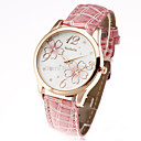 Buy fashion womage 2015 classic flower pattern gold case brand leather women ladies casual wrist dress watch Cool Watches Unique