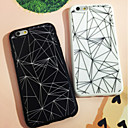 Black and White Triangle Pattern Back Case for iPhone 6/6S(Assorted Color)