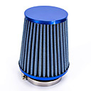 Buy Replacement 76mm 3 inch Plastic Hose Clamp Conical Mesh Car Air Intake Filter Blue