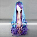 Buy Lolita Wig Inspired Blue Purple Pink Mixed Color Punk