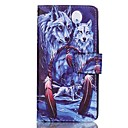 Buy Wolf Pattern Magnetic Flip Wallet PU Leather Phone Case Huawei P9