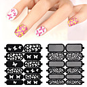 Buy 2016 New Hollow Nail Art Stamping Template Stickers Reusable Stamp Stencil Guide DIY Decal Decoration Tools
