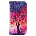 zářící strom PU kůže se stojanem případě pro iphone5s / SE 4.0