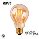 1 pcs GMY E26 2W 2 COB ≥180 lm Warm White A19 Vintage LED Filament Bulbs AC120V 2200K Amber
