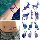 Buy Disposable Waterproof 3d Tattoo Sticker Color Runs Elk Pattern Temporary Stickers Flash Fake Foil Decal