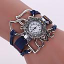 Buy Women's Quartz Analog White Case Love Leather Band Bracelet Wrist Fashion Watch Jewelry Cool Watches Unique