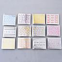 50 φύλλα 3d πολύχρωμο αυτοκόλλητα αυτοκόλλητο καρφί τέχνης συμβουλές μανικιούρ diy διακόσμηση