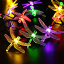 Buy Outdoor Solar Led String Light 5M 20 Dragonfly Panel Strip Waterproof Garden Square Decoration