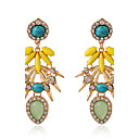 Buy Drop Earrings Resin Alloy Fashion Taper Shape Yellow Jewelry Daily Casual 1 pair