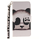 Buy Painted Panda Pattern Card Can Lanyard PU Phone Case Huawei P9 Lite P8