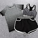 Buy Women's Short Sleeve Running Clothing Sets/Suits Breathable Spring Summer Fall/Autumn Sports WearExercise & Fitness Leisure