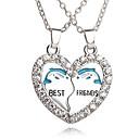 Buy Best Friends Broken Heart Dolphin Pendants & Necklaces Rhinestone Necklace Gift Jewelry