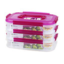 Buy Reusable 3 Compartment Lunch Containers Dry Storage (1.15L*3P)