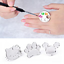 Buy Cute Nail Art Metal Finger Ring Palette Mixing Acrylic Gel Polish Painting Drawing Color Paint Dish Manicure Tools