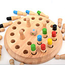 Buy Building Blocks / Board Game Educational Toy Gift Leisure Hobby Circular Cylindrical Wood 2 4 Years Khaki Toys