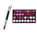 Buy Pro 32 Color Lip Gloss Lipstick Makeup Cosmetic Palette Set + 1Dual Sponge Stick(Eye Shadow Brush Brush)