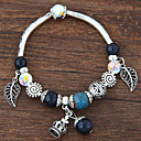 Buy Women's Charm Bracelet Crystal Resin Alloy Bohemian Simple Style Fashion Leaf Rose Pink Green Blue Jewelry 1pc