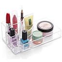 Buy Acrylic Transparent Portable Quadrate Solid Cosmetics Makeup Storage Stand Brush Pot Cosmetic Organizer Lipstick Eyeliner Nail Polish