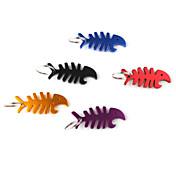 생선 뼈 모양의 병 오프너 열쇠 고리 (랜덤 색상)