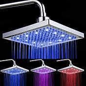 8-인치 12-LED 사각형 천정 샤워헤드 (여러색상)