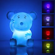 귀여운 쥐모양 컬러풀 조명 LED 나이트 램프 (3xLR44)