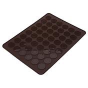 DIY Tamaño hornear de silicona grande 48 Hoyos Macarrón cookies Mat