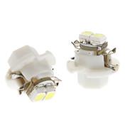 B8.4 0.5W 2x3528SMD 백색 빛 차 계기 램프 전구 (DC 12V, 1 쌍)을 LED