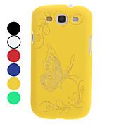 Para Funda Samsung Galaxy Diseños / En Relieve Funda Cubierta Trasera Funda Mariposa Policarbonato Samsung S3