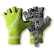 SPAKCT S13G03 튼튼한 폴리 에스테와 순환 자전거 - 녹색 대한 Vinylal 재료 절반 손가락 장갑 디자인