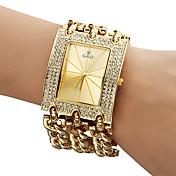 Mujer Reloj de Moda Reloj Pulsera Cuarzo Banda Destello Dorado Dorado Blanco
